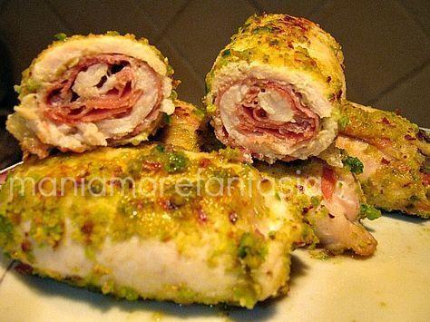 Involtini di pollo e pistacchi