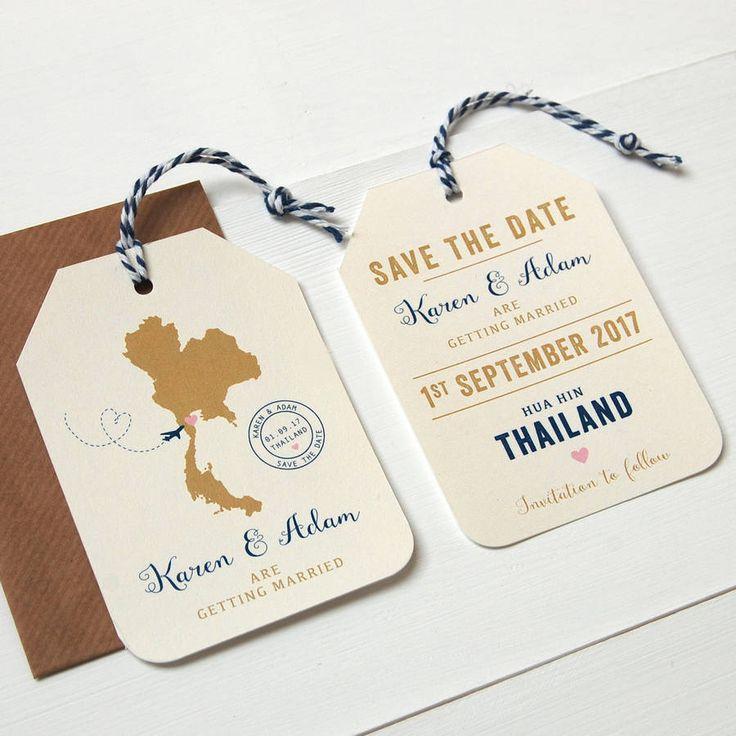 Location Destination Wedding Luggage Tag - Cream