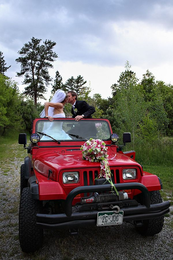 Pretty sure this is what will happen haha Jeep wedding