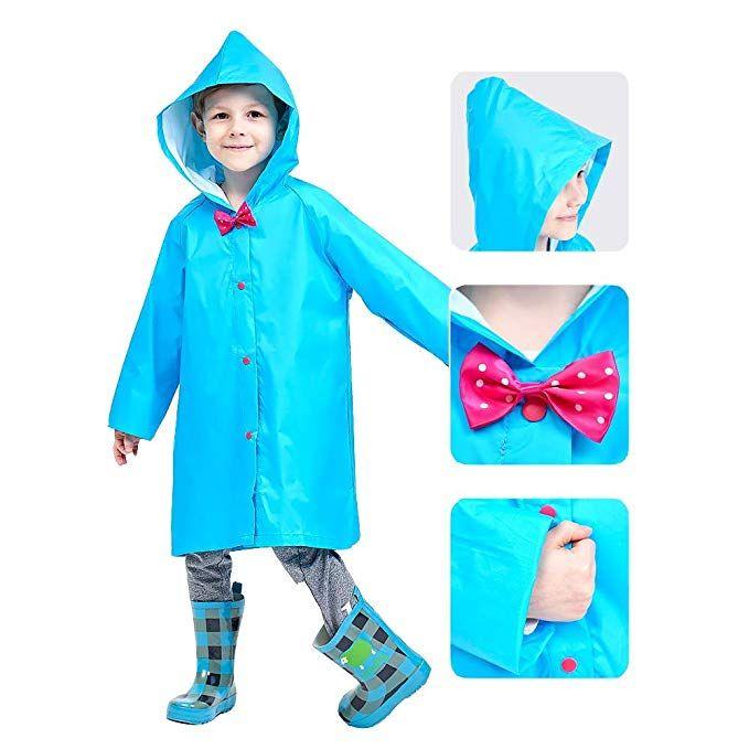 Mini Balabala Kids Rain Jacket Age 2-10 Dinosaur Lightweight Rainwear Boy Girl Baby Baby Boys