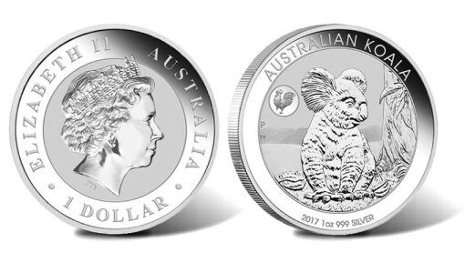 2017 Australian Koala with Rooster Privy 1oz Silver Bullion Coin