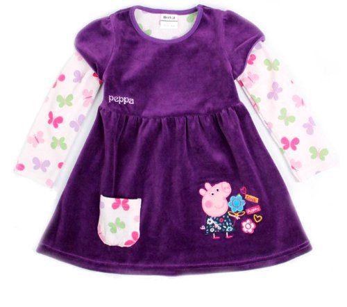 Girl corduroy corduroy dress pig winter winter baby vestido plush