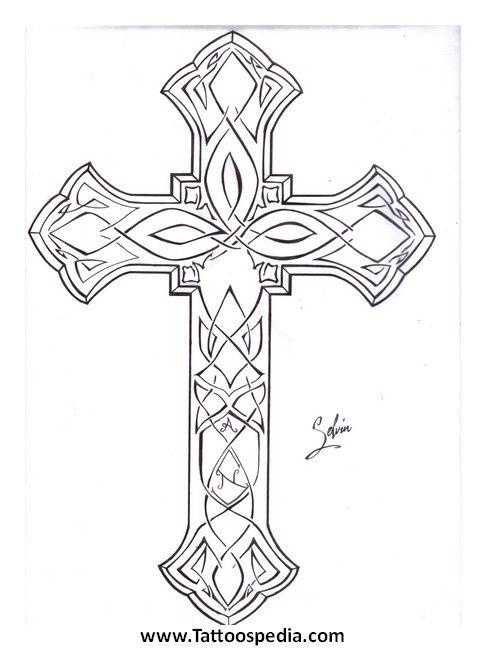 Cross Outline Cross Outline Tattoos Cross Designs
