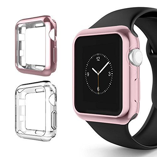 Apple Watch Series 3 Case 38mm Alritz Soft Slim TPU Protective Case Flexible Anti-Scratch Bumper Cover for Apple Watch Series 1/2/3