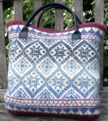 Fair Isle bag. No pattern