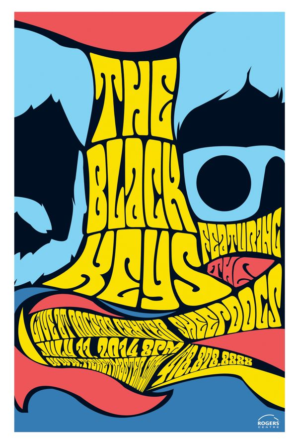 The Black Keys - gig poster - Luigi Rinaldo