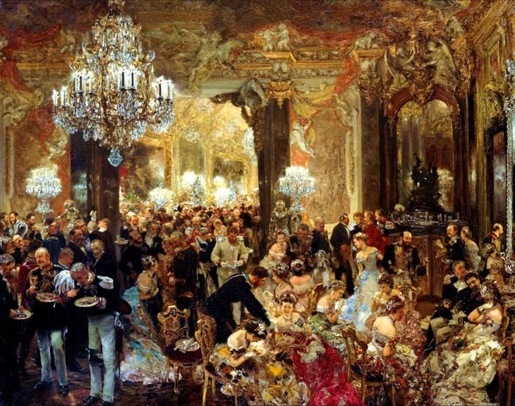 Adolph Menzel - Ужин на балу - The Dinner at the Ball, 1878