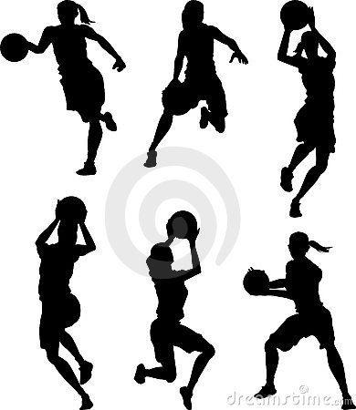 Basketball Female Silhouettes