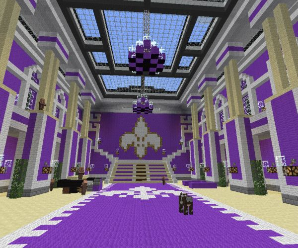 Saints row 3 minecraft mansion download minecraft for Minecraft house interior living room
