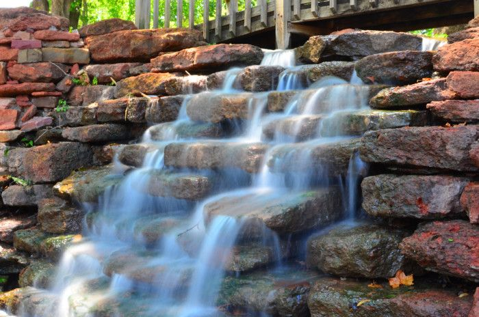 3. Will Rogers Park-OKC: A 30 acre historic park featuring a 7 acre rose garden. This 8 ft. high waterfall is located at the north end of East Lake.