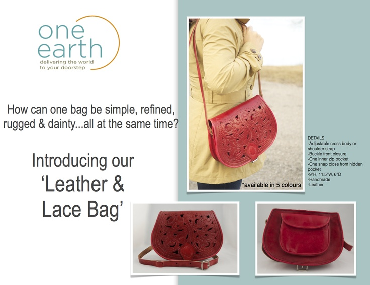 Our handmade all leather, one of a kind Leather  Lace bag.  available in 5 colours #leather #lace #handmade #purse