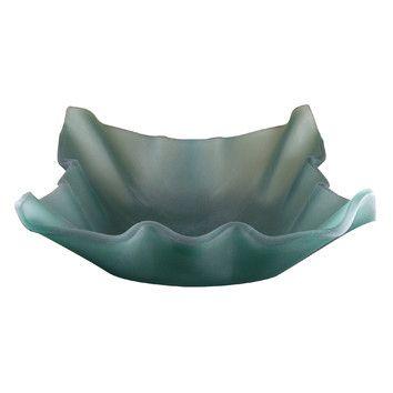 Yosemite Home Decor Jade Shell Glass Bathroom Sink