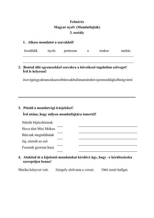 FlipSnack | Felmérés 3.4.osztály magyar vegyes by szakadykatalin