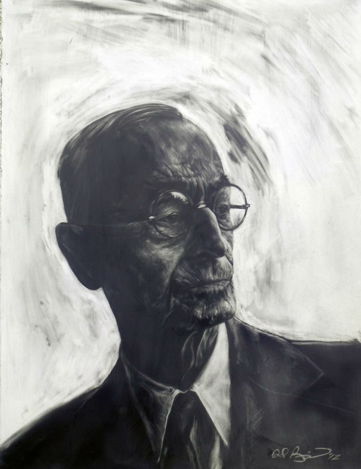 """Herman Hesse"" Powdered Graphite, David Bonagurio"