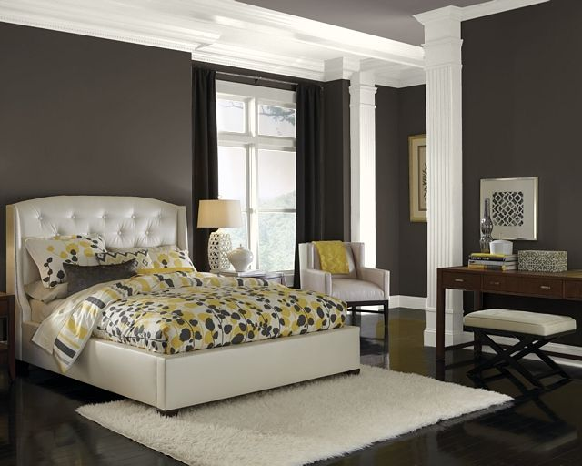 black fox sw 7020 walls and mink sw 6004 ceiling paint colors by hgtv home and sherwin. Black Bedroom Furniture Sets. Home Design Ideas
