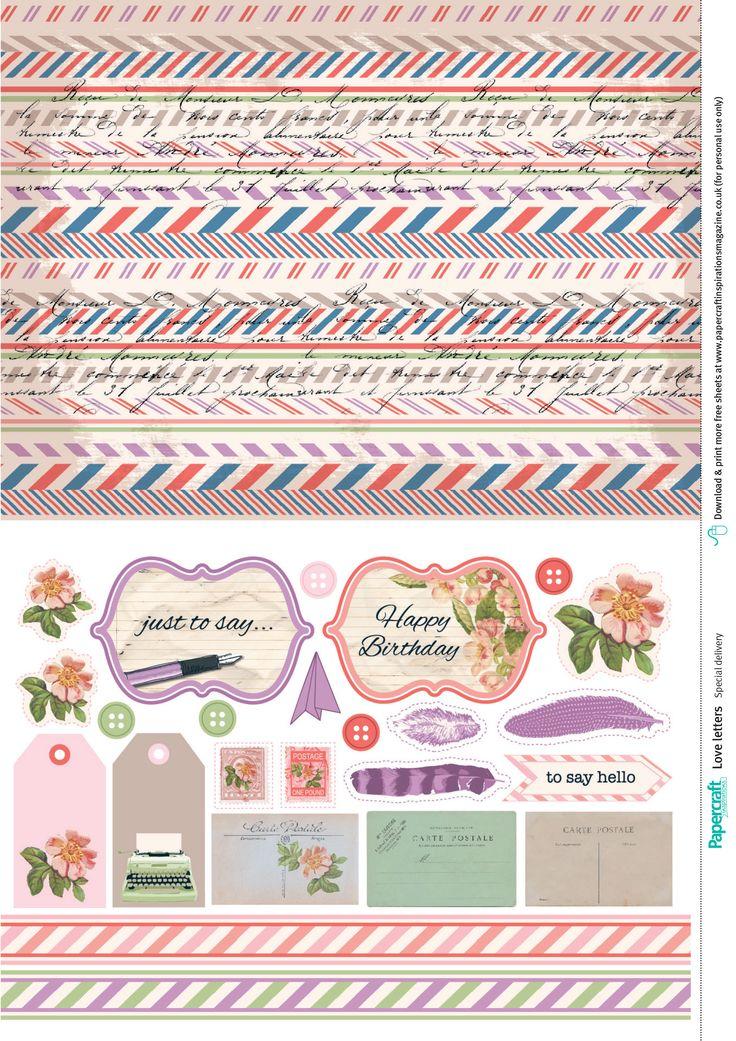 Thursday's Guest Freebies ~ Paper Crafts Inspirations * Follow the Free Digital Scrapbook board for daily freebies: https://www.pinterest.com/sherylcsjohnson/free-digital-scrapbook/ * Visit GrannyEnchanted.Com for thousands of digital scrapbook freebies. *