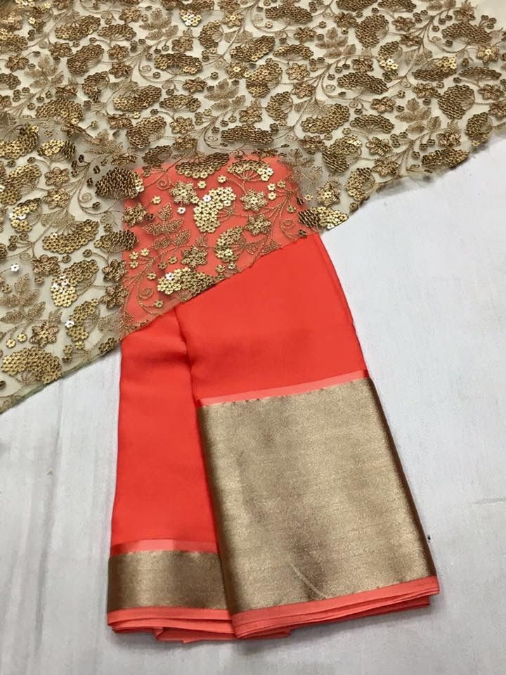 Simple yet stunning chiffon saree by houseof2.com