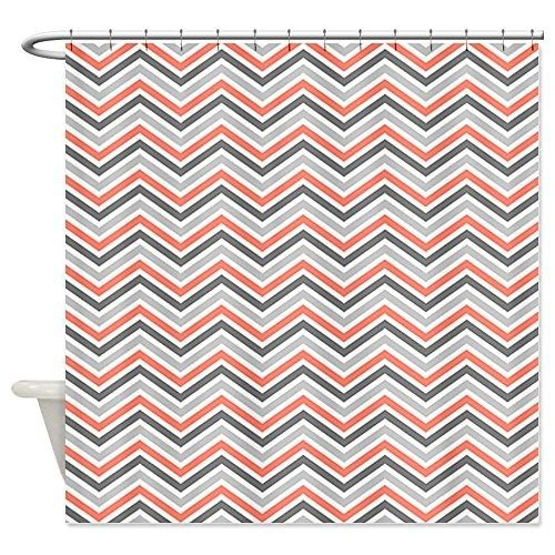 Curtains Ideas coral chevron shower curtain : 1000+ images about Coral Chevron Shower Curtain on Pinterest