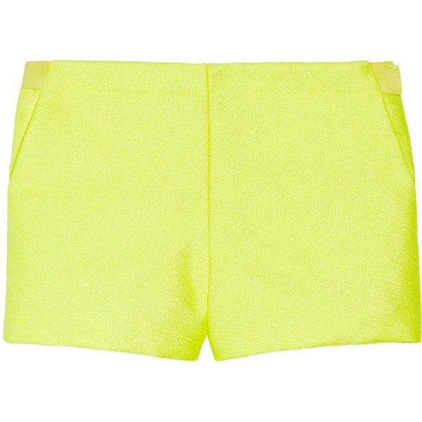 Vanessa Bruno Neon woven shorts (12,620 MKD) ❤ liked on Polyvore featuring shorts, bottoms, pants, short, neon short shorts, short shorts, woven shorts, neon yellow shorts and vanessa bruno