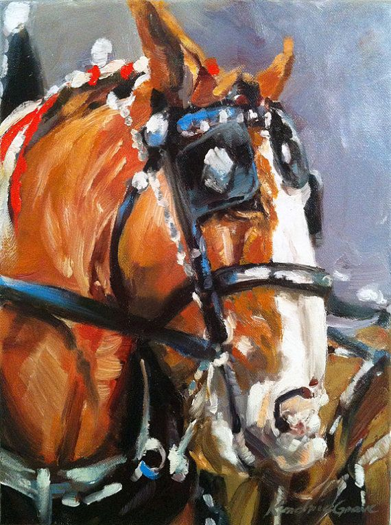 This original 8 x 10 inch oil painting is painted on exhibition wrapped canvas and is one of Kindrie Grove's collection of recent horse paintings - A Belgian Draft horse waiting to be given the signal to go!    To see more of Kindrie's horse paintings, please visit:  http://www.kindriegrove.com/#!grid/c15e0   Shop this product here: spree.to/a74s   Shop all of our products at http://spreesy.com/angelsdonotsleep      Pinterest selling powered by Spreesy.com