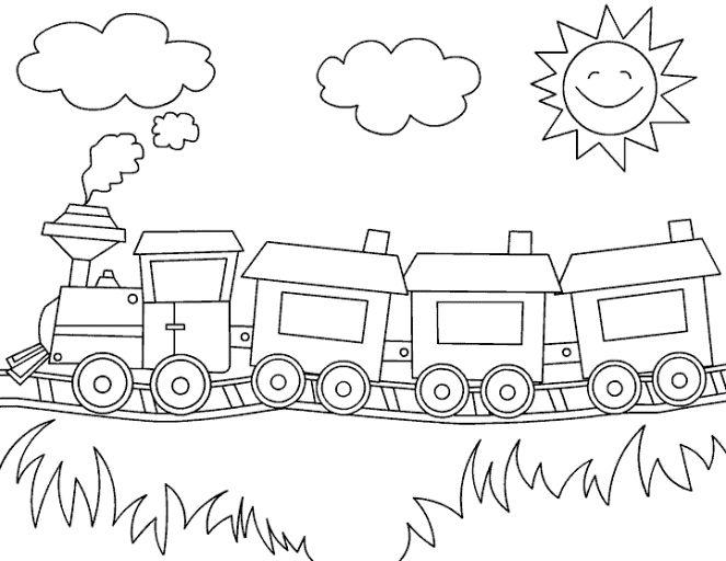 image result for ausmalbild zug  kindergarten coloring