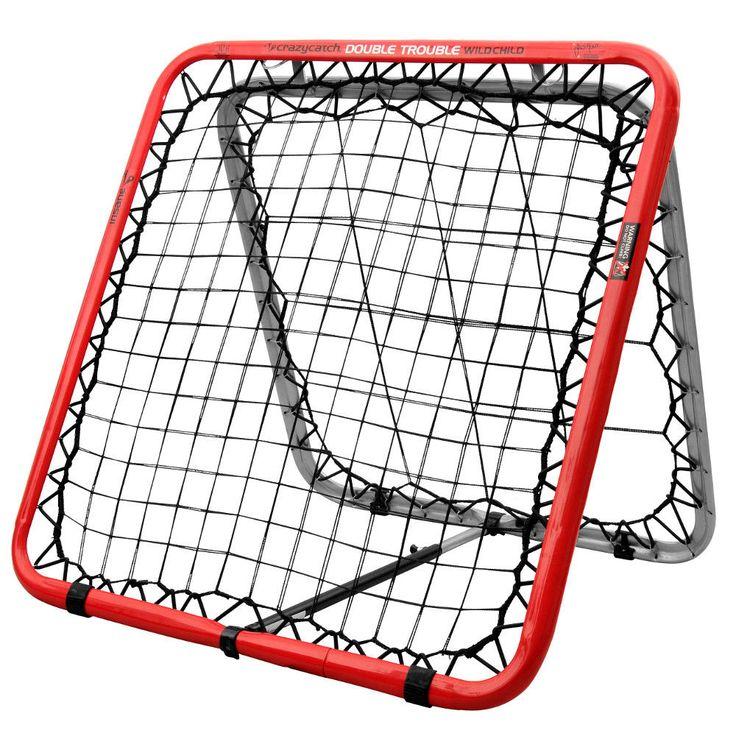 Crazy Catch Wild Child Double Trouble on useaan eri lajiin soveltuva Palautusseinä eli Rebounder. Harjoittele pallon syöttöä, haltuunottoa, potkutekniikkaa. Katso!