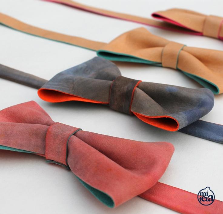 Las pajaritas de Emilio by miteta.  Pajaritas en piel.