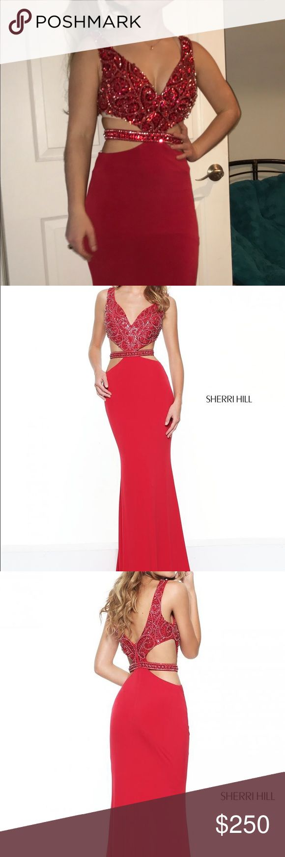 Missed the return date This never-worn prom dress is in perfect condition. Size 2: Fitted jersey with a beaded bodice and cut out sides. Originally $398.00. Willing to negotiate price. Sherri Hill Dresses Prom