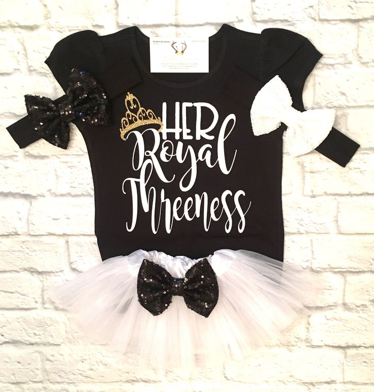 A personal favorite from my Etsy shop https://www.etsy.com/listing/517730368/third-birthday-shirt-her-royal-threeness