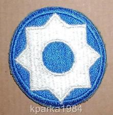 WW2 US ARMY EIGHTH SERVICE COMMAND INSIGNIA PATCH