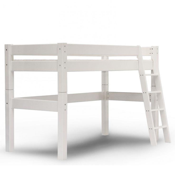Lit mi-hauteur H140 90x200 Lilja blanc (LILJBLCM01H)