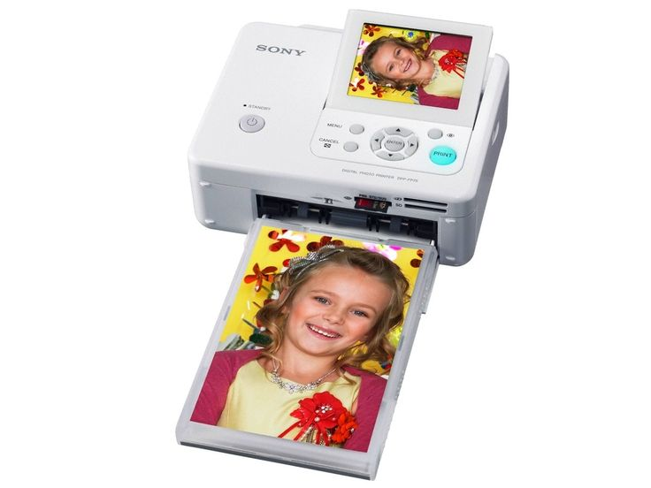 Sony DPP-FP75 Picture Station Digital Photo Printer with 3.5-Inch LCD Tilt-Adjustable Display. Compact and portable dye-sublimation photo printer with built-in memory card reader and screen. 3.5-inch adjustable LCD screen. Red-eye correction, and basic editing functions built-in. Icon-based navigation system. Backed by a 1-year warranty.