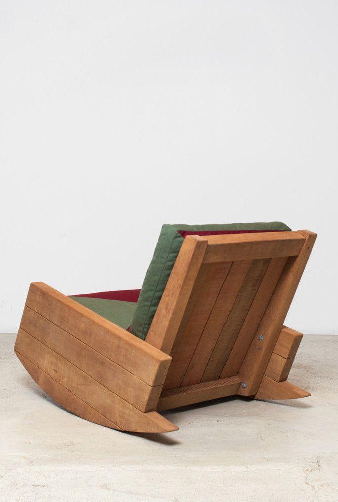 Cadeira De Balanco De Pallet Com Imagens Poltrona De Pallet