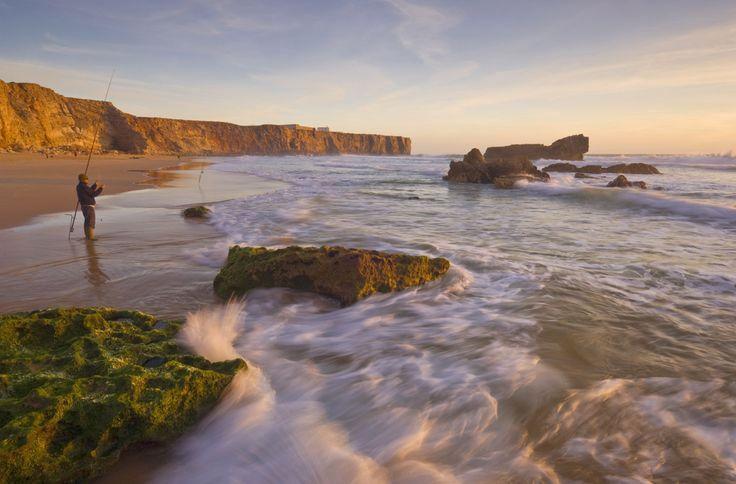 La rocosa praia do Beliche, en Sagres