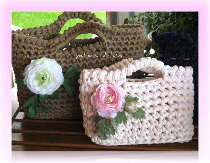 Bolsos de trapillo: Crochet Ideas, Cartera Trapillo, Cartera Crochet, Crochet Pur, 1Borsecrochet Foto, Bolso Trapillo, With Trapillo, Bolso De, Handbags Crochet