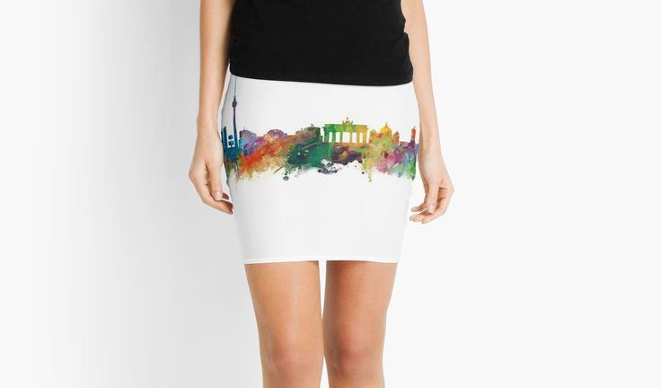 Berlin   #berlin #skyline #landscape #cityscape #art #print #mini #pencil #skirt #women #clothing #style #gift #ideas #travel #colorful #europe #deutschland #germany #german #city #architecture #tower #abstract #watercolor #minimalist