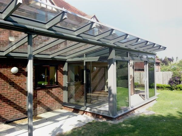 Aluminium conservatories reverse lean to kitchen for Garden room lean to