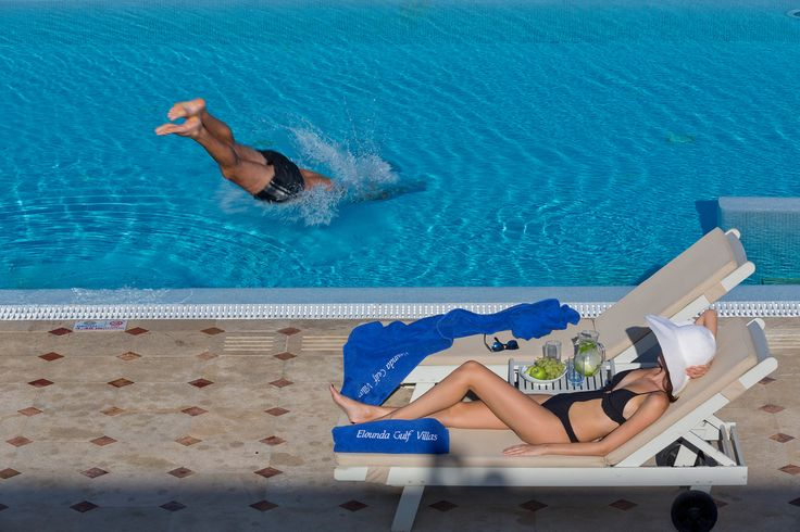 Relaxing moments by your own private pool at EGV.