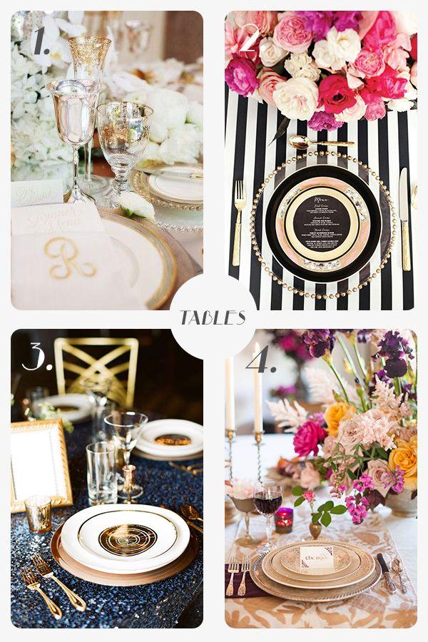 Glamorous wedding inspiration - table layout