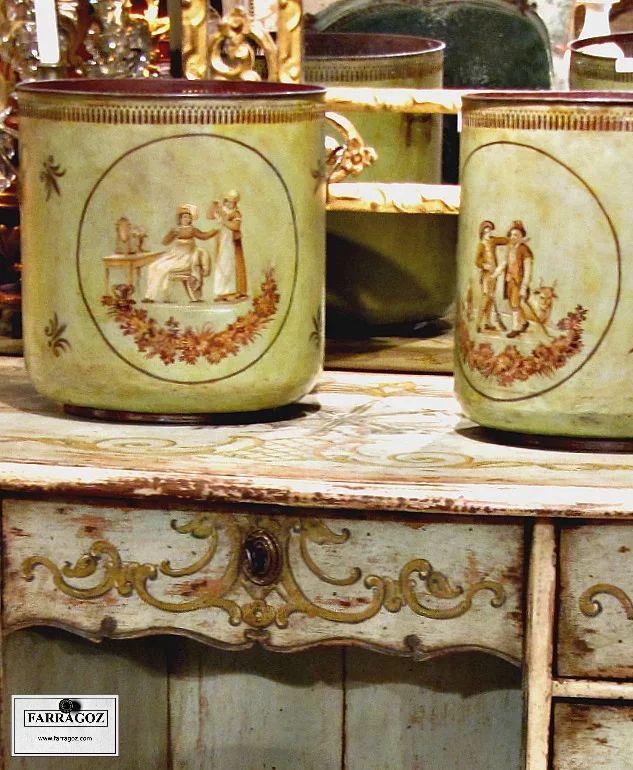 Patina in faded Greens and Golds ~ More beautiful treasures at my favourite market, the Marché aux Puces St-Ouen de Clignancourt (Saint-Ouen Flea Market) in Paris.    FARRAGOZ - Online Courses in the Art of Patina.  http://farragoz.blogspot.com/2014/04/where-to-find-patina-in-paris.html    #paintedfurniture #patina #onlinecourse #shabbychic #antiques #paris #paintfinish #saintouen #antiquemarket #farragoz #greenandgold #fleamarketfinds
