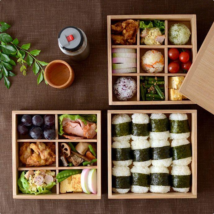 松屋漆器店[別注]白木塗タモ6寸三段重箱/イメージ2