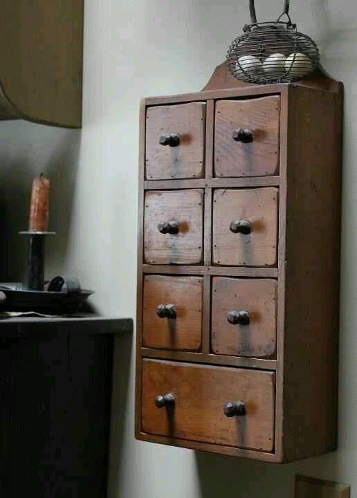 -Love these old apothecary cabinets