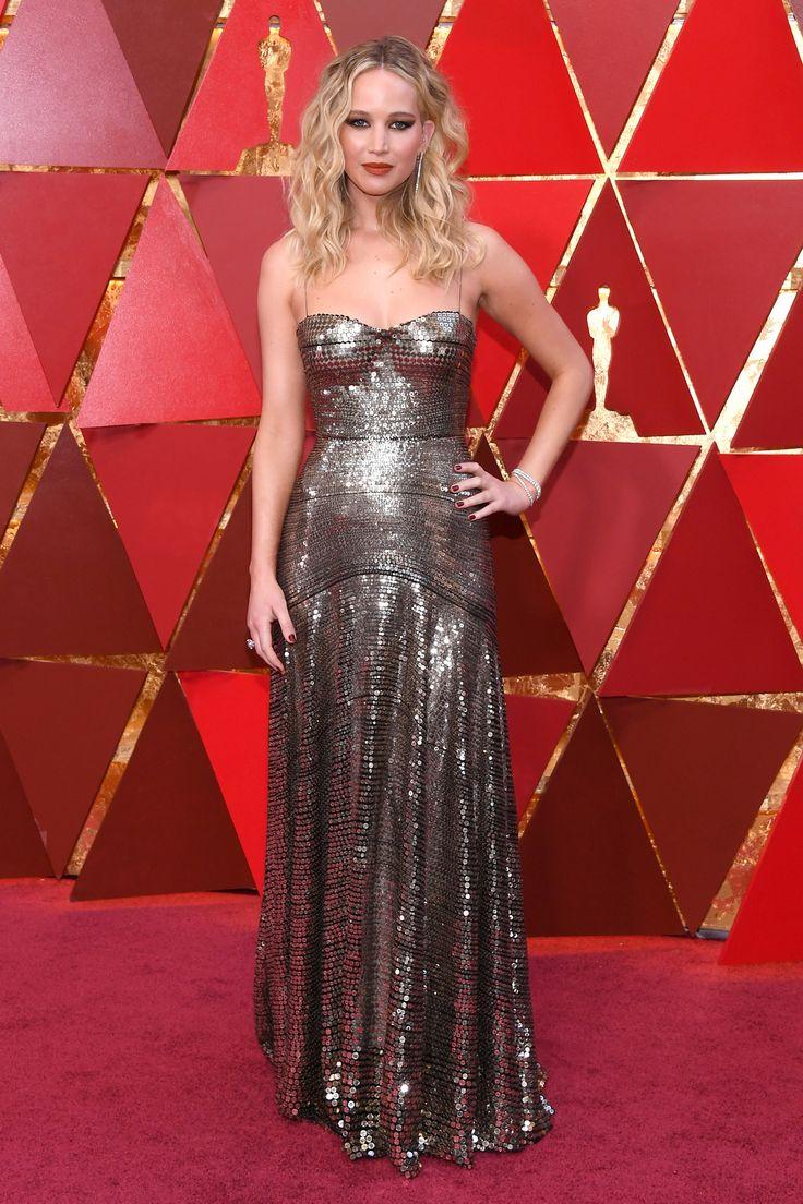 Jennifer Lawrence #dress #oscars #2018 #redcarpet