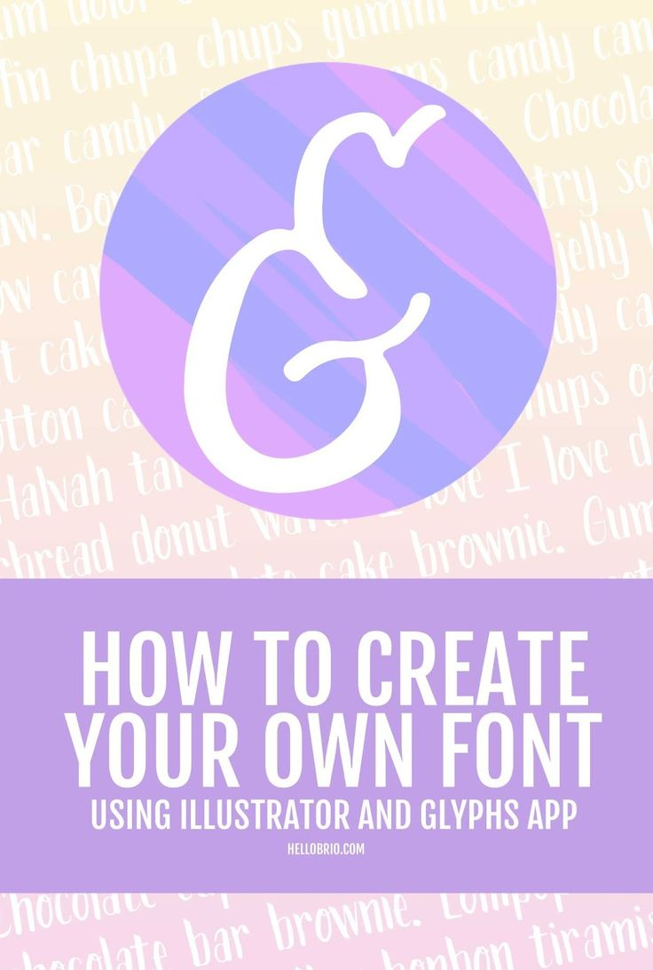 how to create own font