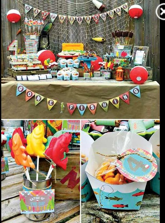 11 best fishing theme party images on pinterest birthday for Fish party supplies