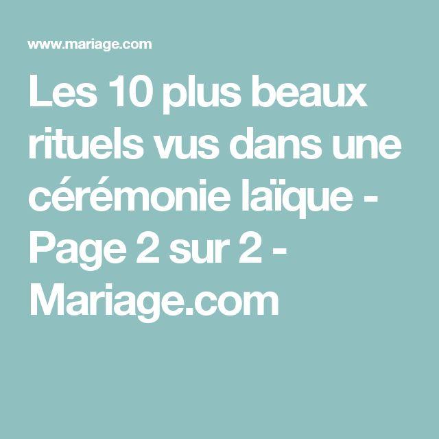 Les 10 plus beaux rituels vus dans une cérémonie laïque - Page 2 sur 2 - Mariage.com