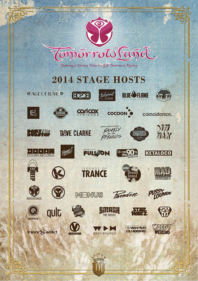 Tomorrowland announces full 2014 lineup and stage hosts
