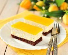 Entremets à la mangue et chocolat sans cuisson : http://www.cuisineaz.com/recettes/entremets-a-la-mangue-et-chocolat-sans-cuisson-80998.aspx
