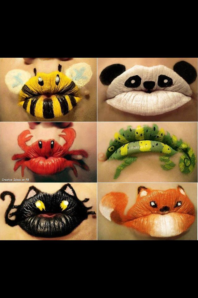 Lip face painting