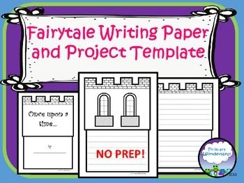 "This template for fairytale or fractured fairytale writing by Primary Wonderland includes full sized pages of castles with writing lines and spaces for adding student drawings or photos.  The title page includes the classic ""Once Upon a Time..."" while the other  pages are adaptable for your own title, writing, or illustrations."